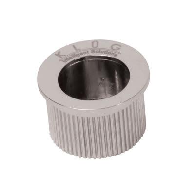 Klug Round Door Edge Finger Flush Pull - 30mm - Polished Chrome