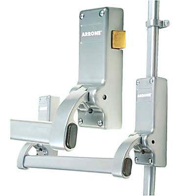 Arrone AR888 Rebated Double Door Panic Bar Set - Timber Door