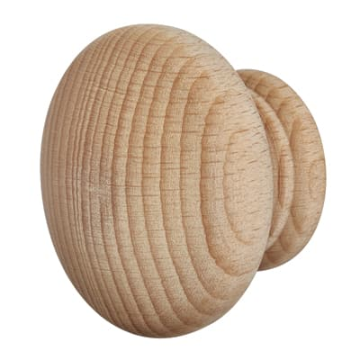 Touchpoint Wooden Cabinet Knob - Beech - 60mm - Pack 5