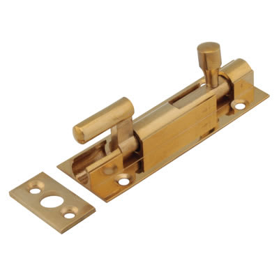 Touchpoint Budget Necked Barrel Bolt - 75 x 25mm - Polished Brass