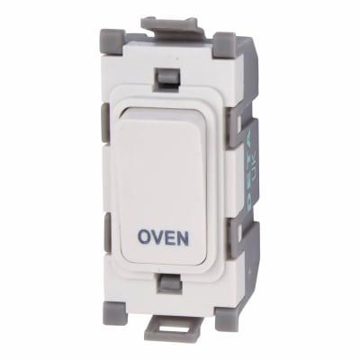 Deta 20A Printed Grid Switch - Oven - White