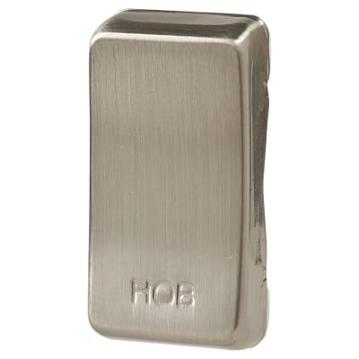 BG Printed Grid Switch Rocker - Hob - Brushed Steel