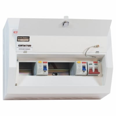 Contactum Defender 8 Way 100A Dual Split High Integrity Metal Consumer Unit - Amendment 3