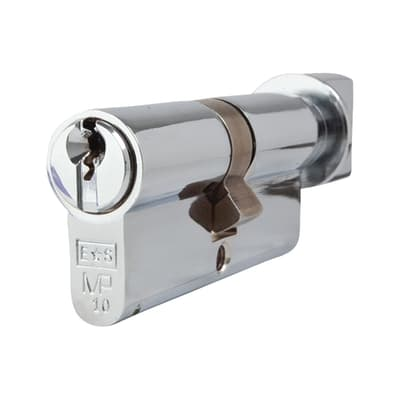 Eurospec 10 Pin 70mm Euro Thumbturn Cylinder - 35mm [Turn] + 35mm - Polished Chrome - Keyed to Diffe