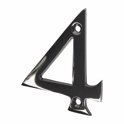 Altro 76mm Screw Fixed  Numeral - 4 - Black Nickel