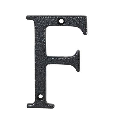 76mm Letter - F - Antique Black Iron