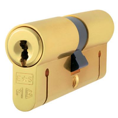 Eurospec Euro Double Cylinder - 15 Pin - 35 + 35mm - Polished Brass - Keyed Alike