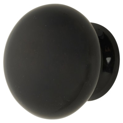 Hampstead Ceramic/Porcelain Cabinet Knob - 35mm - Black