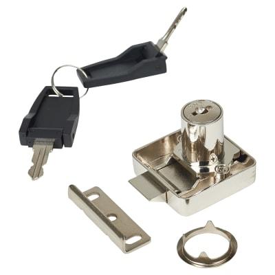 Cabinet Slam Lock - 18 x 22mm - Chrome Plated - Keyed Alike Differ 1