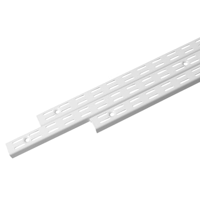 Rothley Twin Slot Shelf Upright - 2394mm - Antibacterial White