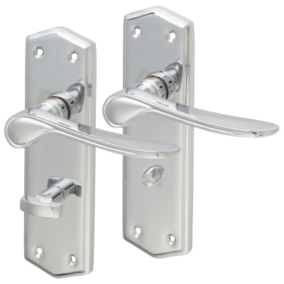 Touchpoint Rome Bathroom Door Handle - Polished Chrome