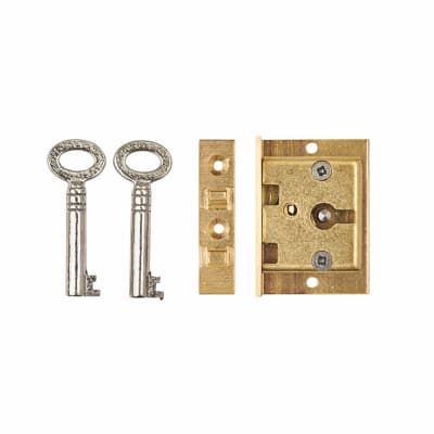 Cut Box Lock - 38 x 32mm - Brass
