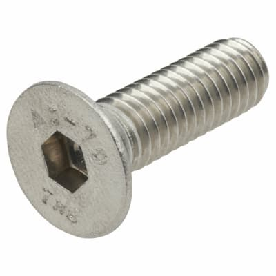 TIMco Countersunk Head Socket Screws - M6 x 20mm - A2 Stainless Steel - Pack 10