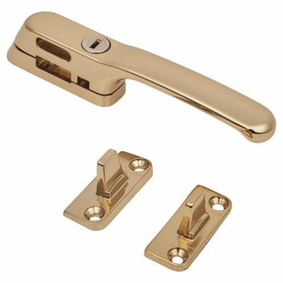 Fab & Fix Craftsman Casement Fastener Locking - Gold