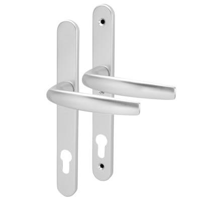 Hoppe uPVC Aluminium Multipoint Door Handle - 92mm c/c - Silver Anodised