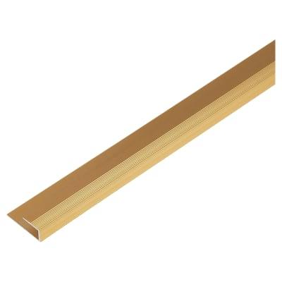 Square Edge Trim - 900mm - Gold Anodised