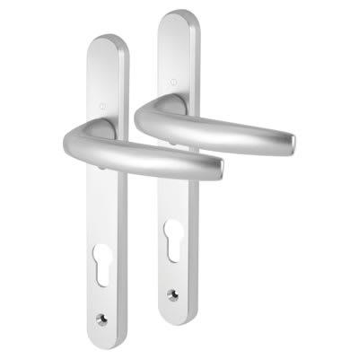 Hoppe Atlanta uPVC Multipoint Door Handle - 92mm c/c - 70mm door thickness - Silver