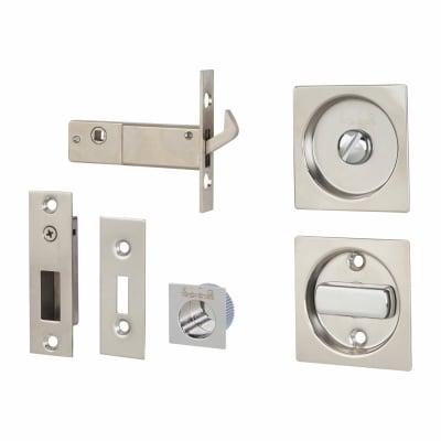 Klug Square Flush Privacy Set with Bolt - Stainless Steel Grade 304 - Polished