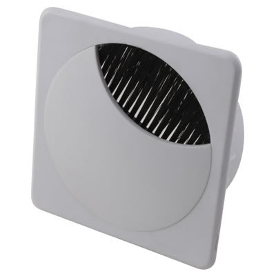 Altro Square Cable Tidy - 80mm - White - Pack 10