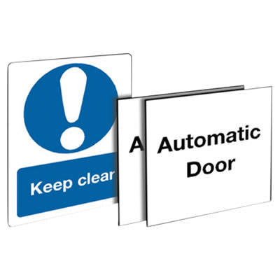 Automatic Door & Keep Clear Signage Set