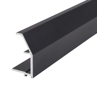 Klug Vinklet Profile Aluminium Handle - 2500mm - Brushed Black