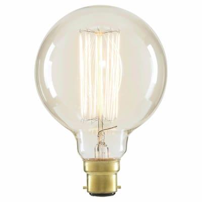 6W LED Vintage Large G95 Globe - BC - Clear