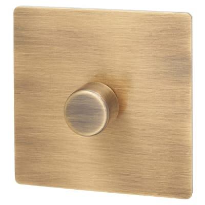 Hamilton Sheer CFX 100A 1 Gang 2 Way LED Dimmer Switch - Antique Brass