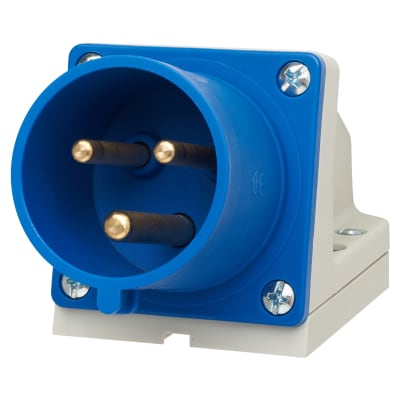 Lewden 32A 2 Pin and Earth Appliance Inlet - Blue