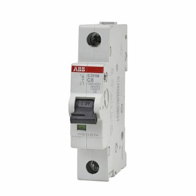 ABB 6A 10kA Single Pole 3 Phase MCB - Type C