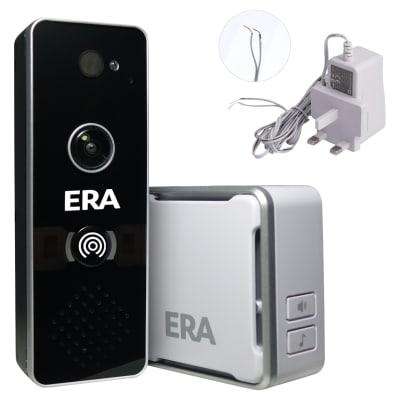 ERA DoorCam Smart Video Doorbell with Power Supply - Black