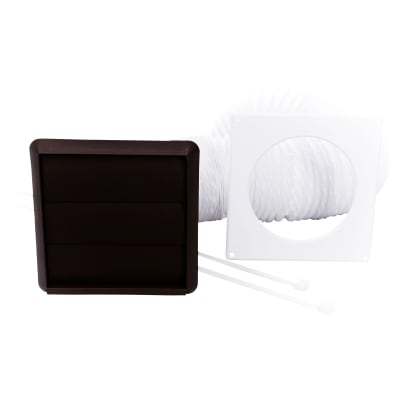 Rytons 100mm Venting Kit with Gravity Grille (3m L Duct) - Brown
