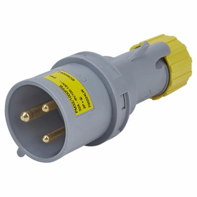 Lewden 32A 2 Pin and Earth Plug - Yellow