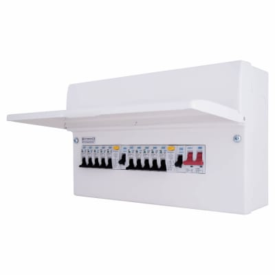 BG Fortress 10 Way 100A 16 Module Metal Consumer Unit - Fully Loaded