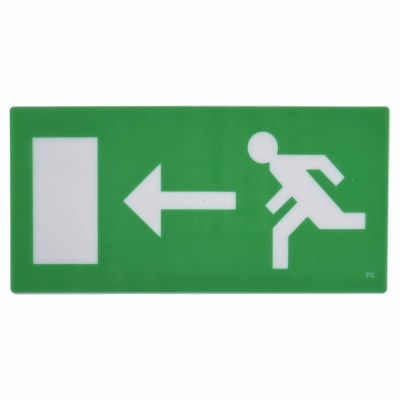 Emergency Exit Sign - Left Arrow - Legend