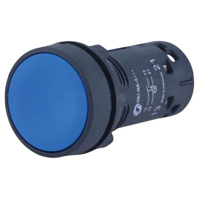 Schneider Harmony XB7 Spring Return Push button 1NO+ 1NC -Blue
