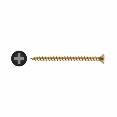 TIMco Solo Chippy Woodscrew - 4 x 25mm - Yellow Zinc - Pack 200