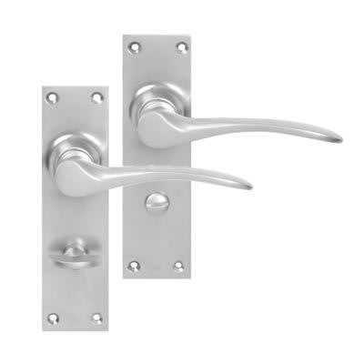 Hampstead Bathroom Door Handle - Satin Chrome