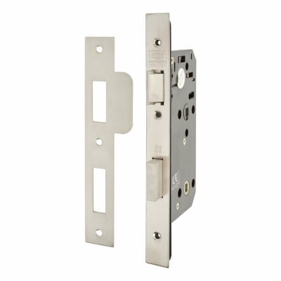 UNION J2C7S Equality Act Bathroom Lock - 83mm Case - 55mm Backset - Satin Stainless Steel