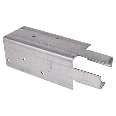Arris Rail Fence Bracket - Mortice - Galvanised
