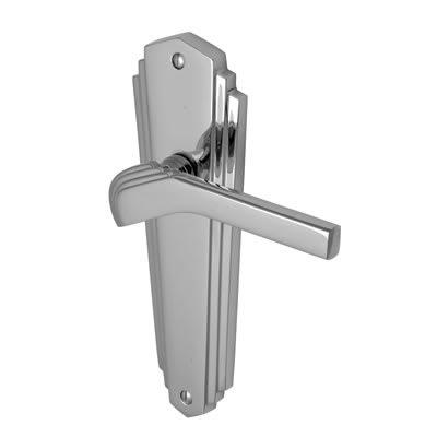M Marcus Waldorf Latch Door Handle - Polished Chrome
