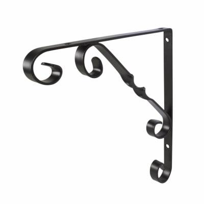 Touchpoint Ornamental Scroll Shelf Bracket - 250 x 245mm - Black