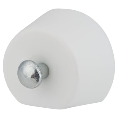 Flat Sided Pin Shelf Support - 15mm - White - Pack 50