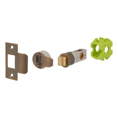 Jigtech Smartlatch Passage Latch - 45mm Backset - Antique Brass