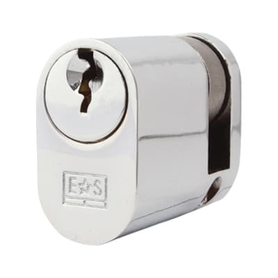 Eurospec Oval Single Cylinder - 5 Pin - 30 + 10mm - Polished Chrome - Master Keyed