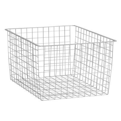 elfa Deep Storage Basket - 527 x 427 x 285mm - Platinum