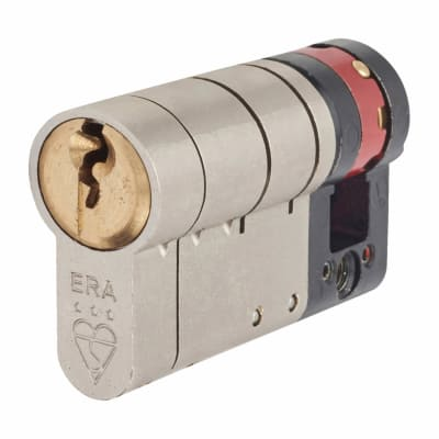 ERA 3 Star Fortress Cylinder - Euro Single - Length 60mm - 50 + 10mm - Nickel and Brass