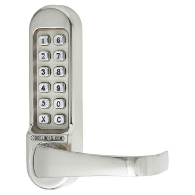 Codelocks CL500 Mechanical Panic Access Lock - Satin Chrome