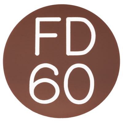 FD60 Door Sign Self Adhesive - 50mm - Brown