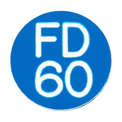FD60 Door Sign Self Adhesive - 25mm - Blue