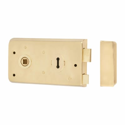 Altro Rim Plain Edge Sashlock - Brass